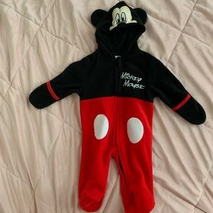 Mickey Mouse footed one-piece